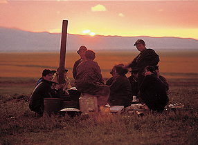 モンゴルの遊牧民
